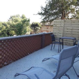 Terrasse détente maison hôtes