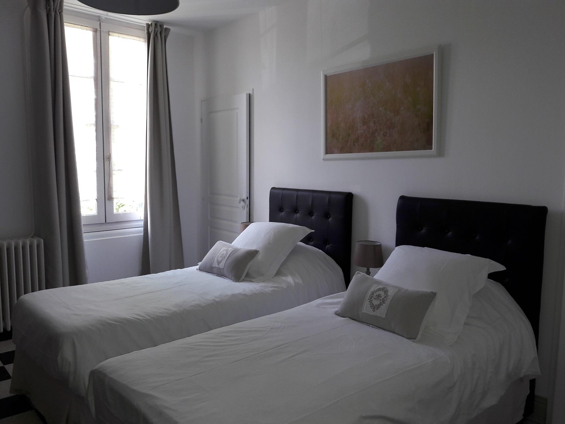 Chambres d'hotes avec lits jumeaux, literie de grand confort