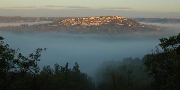 Village perché de Lauzerte dans le Quercy