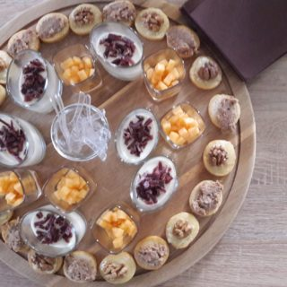 Aperitif snack board of the table d'hotes