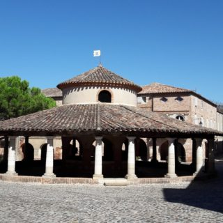 Circular covered market place in Auvillar