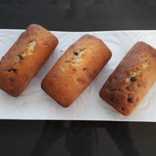 Petits cakes du jour aux pépites de chocolat pour le petit-déjeuner