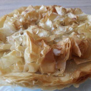 Croustade aux pommes du Sud-Ouest servie en dessert de la table d'hôtes