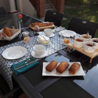 Breakfast table on the terrace