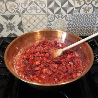 Homemade strawberry jam preparation with Tarn et Garonne strawberries