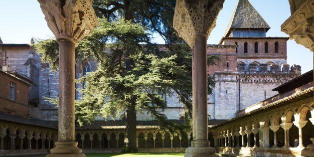 Beautiful cloister of Moissac Abbey