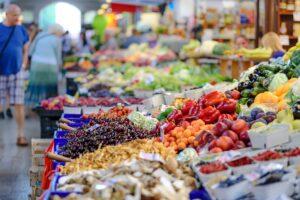 produits locaux au marché d'Auvillar